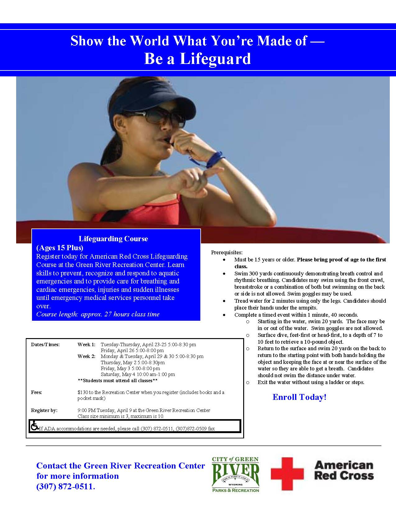 Lifeguarding Course flier 4.2019