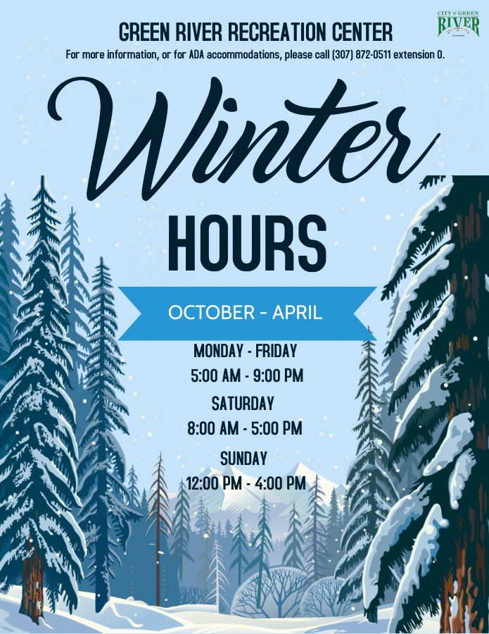 Rec Center Winter Hours