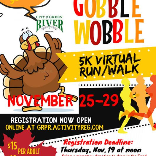 Gooble Wobble Virtual 5k run Rec Center
