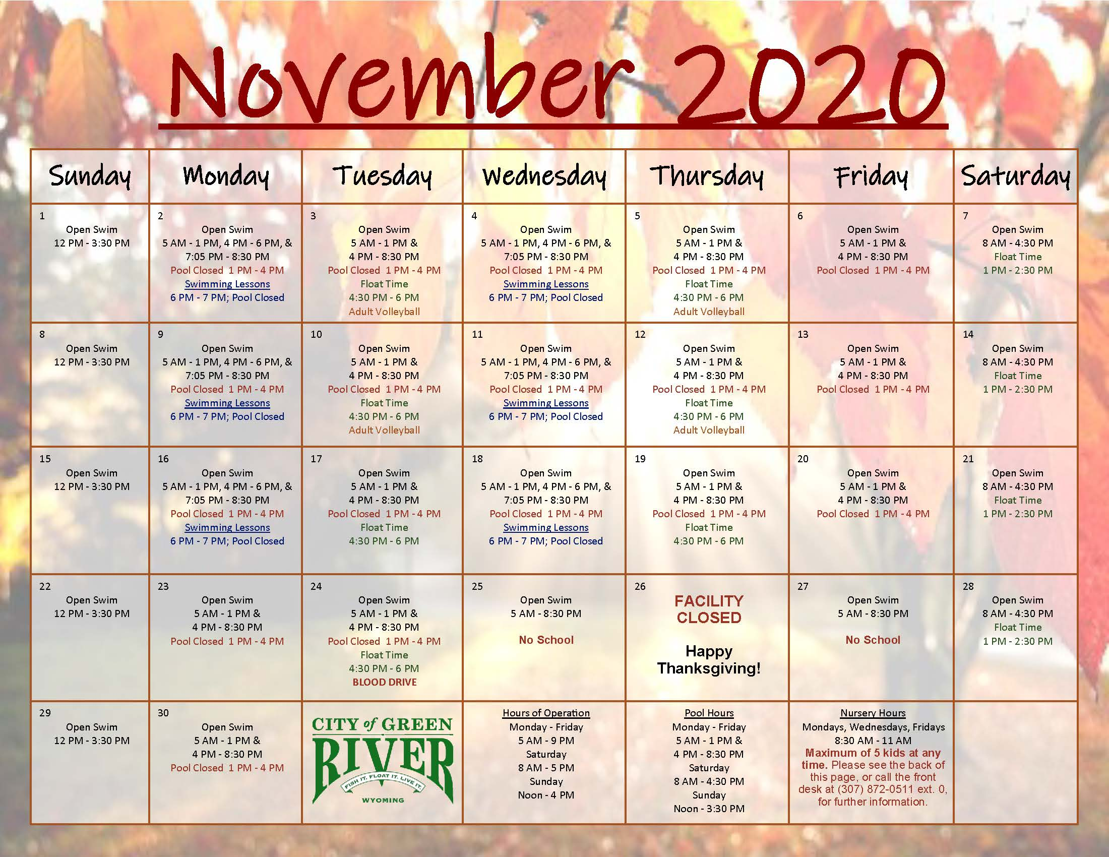 11 November 2020 Calendar and Newsletter_Page_1